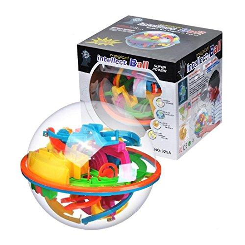 3D立体知育玩具  ボール 智力 迷宮 迷路遊び 子供用 138関 知能 おもちゃ 空間認識 知育ゲーム バランスゲーム おもちゃ