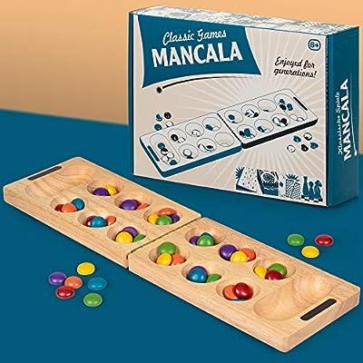 Tobar Mancala adictivo Fácil de Aprender clásico Juego de Mesa para Dos Jugadores: Amazon.es: Juguetes y juegos