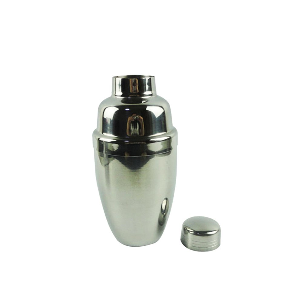 JIngwy Stainless Steel Cocktail Shaker Bottle Professional Bar Tools 4 Sizes Available (S)