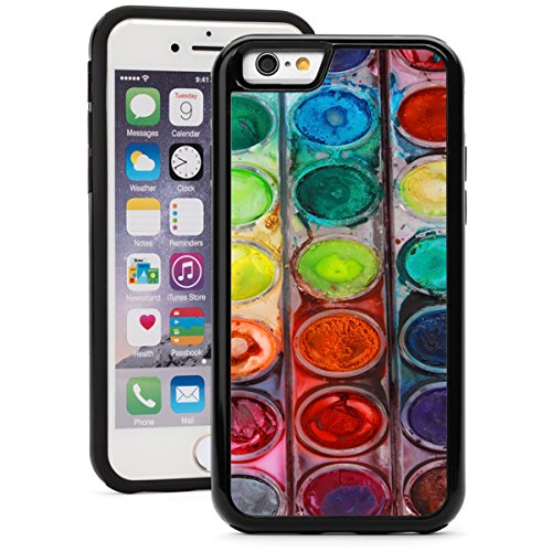 apple-iphone-shockproof-impact-hard-soft-case-cover-artist-painter-watercolors-pallet-black-for-ipho
