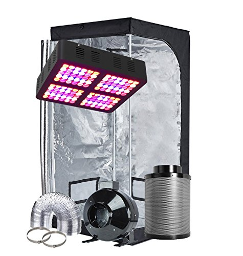 TopoGrow LED Grow Tent Complete Kit LED 600W LED Grow Light Kit +32