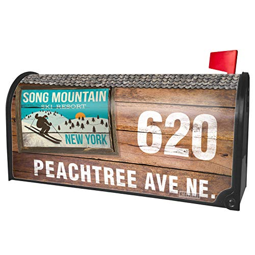 NEONBLOND Custom Mailbox Cover Song Mountain Ski Resort - New York Ski Resort -