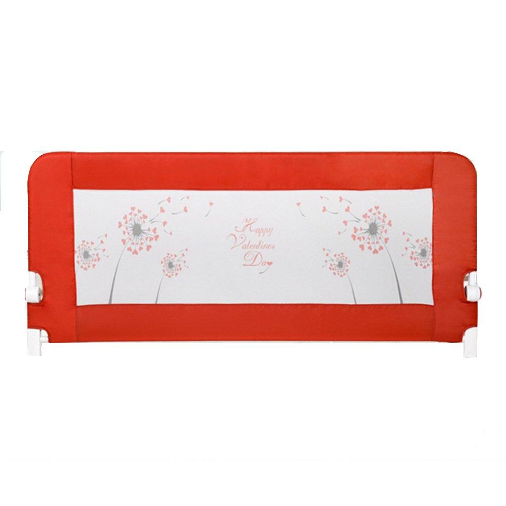 XIAOMEI ベッドガードレールベビーベッドベッドサイドバッフル子供ベッドフェンスユニバーサルカラー1.5m / 1.8m / 2m ベッドの手すり 1.8m Red B07GFW42WQ