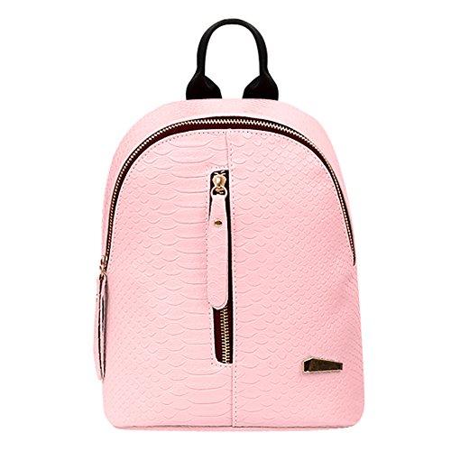 Widewing - Bolso mochila de Piel Sintética para mujer Rosa