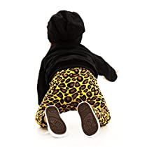 Gotd Baby Girl Boy Leopard Pants Toddlers Leggings (18 Months, Yellow)