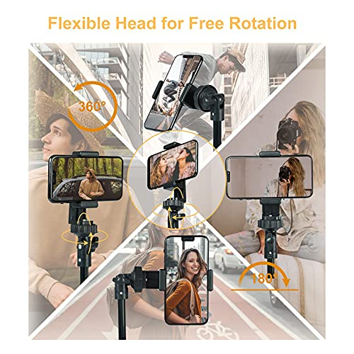 Phone Tripod, 67 Inch Cell Phone and Camera Extendable Tripod Stand,Selfies Stick with Wireless Bluetooth Remote Portable Compatible with 2.2-3.5 Inch, Heavy Duty Aluminum, Cupohus