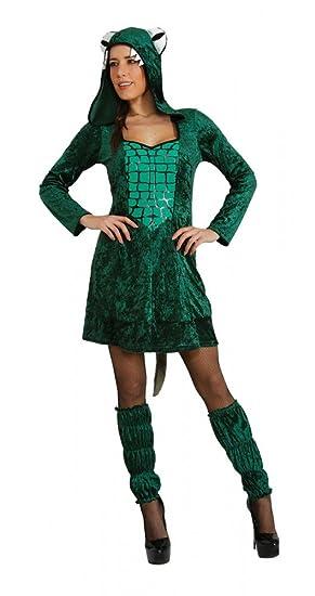 Traje de cocodrilo Mujer Ta.L, Disfraz de animal vestido ...
