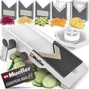 Mueller Austria Multi Blade Adjustable Mandoline Cheese/Vegetable Slicer, Cutter, Shredder with Precise Maximu