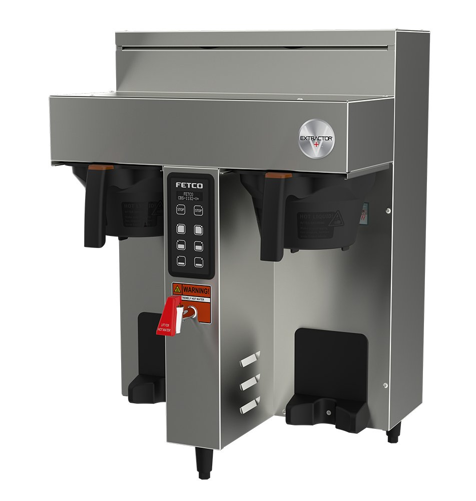 FETCO CBS-1132-V+ Twin 1.0 Gal Series Coffee Brewer (E113252), Stainless Steel, Twin 1.0  gal; Digital Touchpad