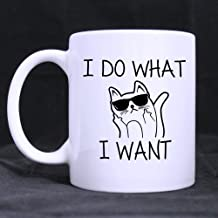 SCSF Coffee Cup Cat Humor I Do What I Want Coffee Tea Mug Cup, 11 Ounces