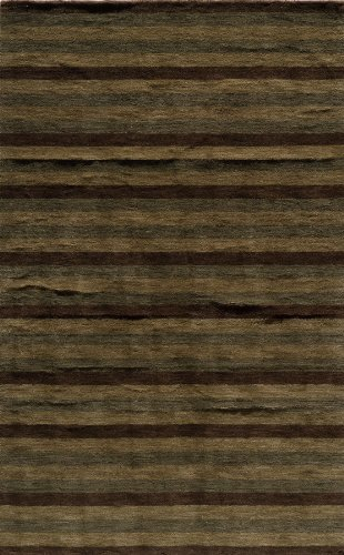 Momeni Rugs Metro Collection, 100% Wool Hand Loomed Contemporary Area Rug, 5' x 8', Brown ()