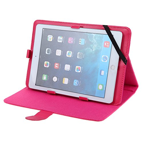 Universal 10.1 Inch Tablet Case Cover (10pk) Pu Leather Folio Style Fits Ematic Eglide PRO Ii Genesis Prime Xl Egs102bl (Pink) -  kiss4less