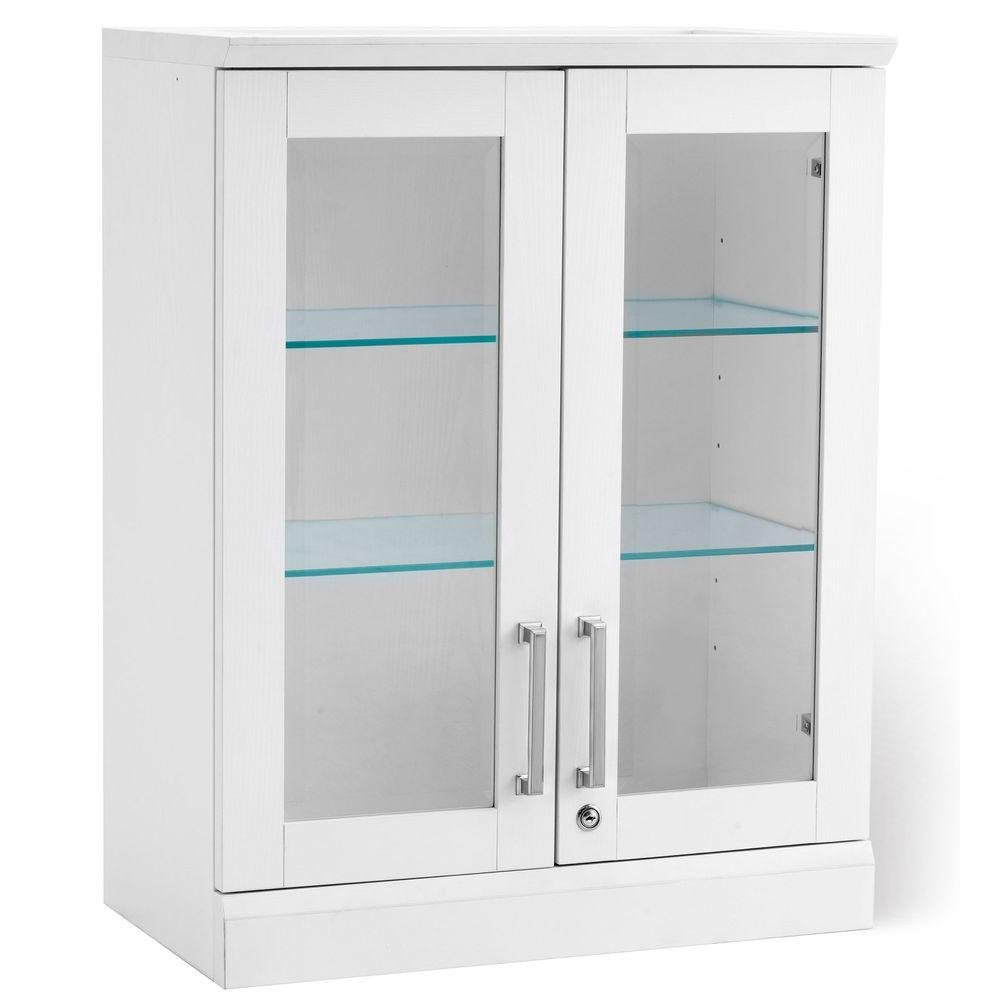 NewAge Products Home Bar Short Wall Display Cabinet