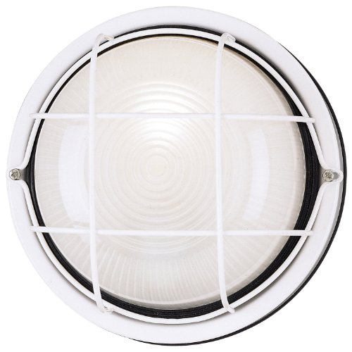 (Westinghouse Lighting 6783600 One-Light Exterior Wall Fixture, White Finish on Steel with White Glass)