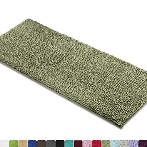 MAYSHINE Bath mat Runners for Bathroom Rugs,Long Floor mats,Extra Soft, Absorbent, Thickening Shaggy Microfiber,Machine-Washable, Perfect for Doormats,Tub, Shower (27.5x47 inches, Sage Green)