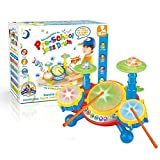 Early Education 3 Year Old + Baby Boy Girl Multicolor Plastic Educational Music Toy Electric Beats Jazz Drum Set