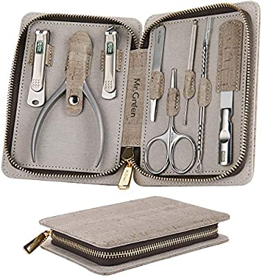 Manicure Set, Pedicure Sets, Nail Clipper Stainless Steel Professional Nail Cutter with Travel Case