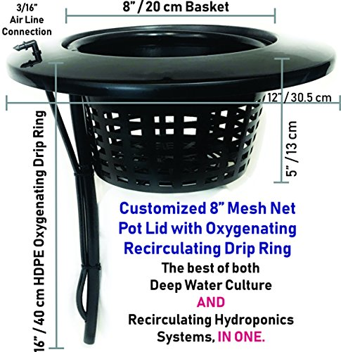 """Latest The Atwater HydroPod - Standard (4 SITE w/ 8"""" Baskets) A/C Powered Dual DWC Deep Water Culture & Recirculating Drip Hydroponic Garden System Kit - 5 Gallon Size System Hydroponic System 2"""