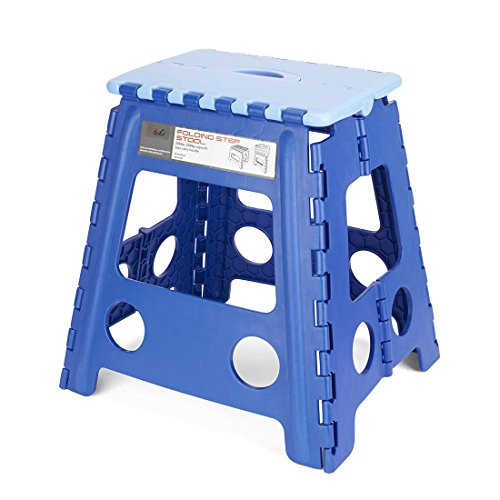 Acko 16 Inches Folding Step Stool for Adults and Kids Kitchen and Garden Step Stool Blue
