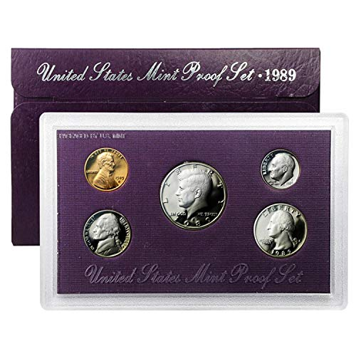 1989 Various Mint Marks Proof Set Proof Clad Coin Set