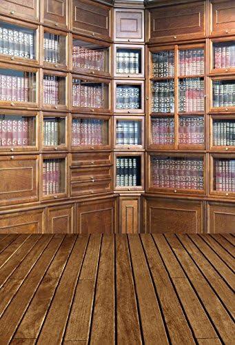 Vintage Bookshelf Backdrop 7x5ft Vinyl Photography Background Classical Bookshelf Hardcover Scene Educator Teacher Writer Literature Shoot Retro Study Library Interior Wedding