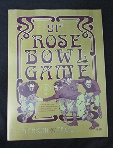 2005 Rose Bowl Official Program Michigan Wolverines vs Texas Longhorns 127487