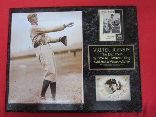 Washington Senators Baseball Photo - Walter Johnson Washington Senators 2 Card Collector Plaque w/8x10 RARE Photo