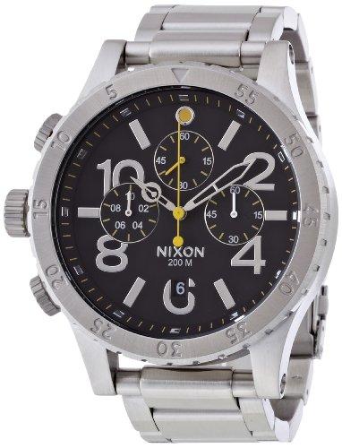 [ニクソン]NIXON 48-20 CHRONO: BLACK NA486000-00 メンズ