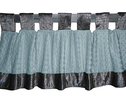 BabyDoll 8100val Croco Minky Window Valance, Grey/Blue baby doll bedding