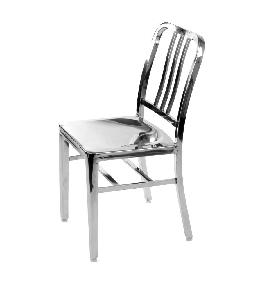 set of 1 stainless steel modern salem side dining chair navy chair rh amazon ca