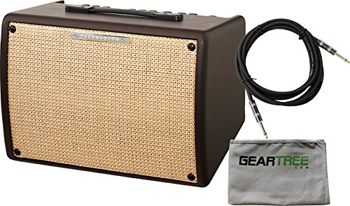 Ibanez T30II Troubadour II Acoustic Guitar Combo Amplifier Brown - 30 Watt w/ Cable and Polish Cloth by I.B.A.N.E.Z.