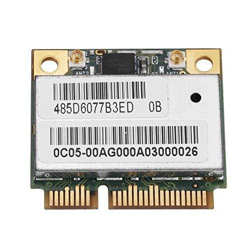 Vbestlife Tarjeta de Red Dual Band 2.4G / 5Ghz AR5BHB92 Tarjeta WiFi Inalámbrica de Velocidad de Transmisión 300Mbps Mini PCI-E para Windows ...