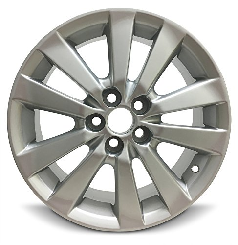 Road Ready Car Wheel For 2009-2010 Toyota Corolla 16 Inch 5 Lug Gray Aluminum Rim Fits R16 Tire - Exact OEM Replacement - Full-Size - Corolla Wheels Alloy Toyota