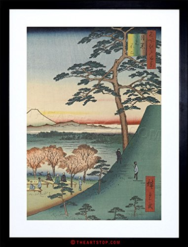 (The Art Stop Painting Woodblock Japanese Hiroshi Mount Fuji Japan Framed Print F97X8008 )