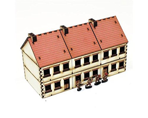 Europe At War - Buildings 15mm Terrace Houses - Type 2 (Pre-Painted)