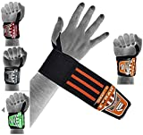 EMRAH HEAVY DUTY Wrist Wraps (PAIR) ''LIMITED DEAL''- Wrist Support Braces for Men & Women - Weight Lifting, Crossfit, Powerlifting, Strength Training (Oran