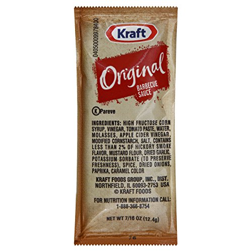 Kraft Original Barbecue Sauce.4375 oz. sachet, Pack of 204