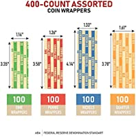 400 ASSORTED  FLAT COIN WRAPPERS