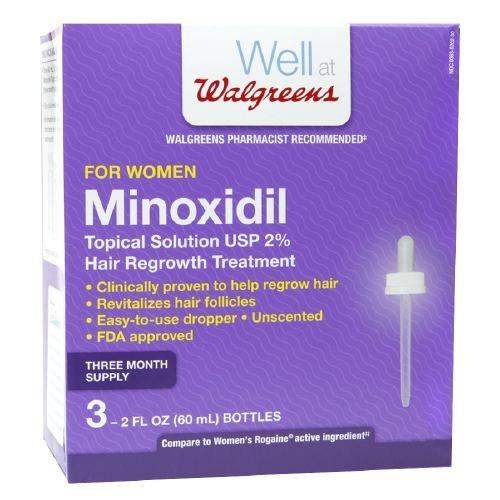 Walgreens Minoxidil Hair Regrowth Treatment For Women 3 ea