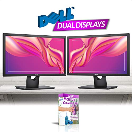 (Dell E2216H 21.5in Widescreen LED Backlit LCD Monitor (1920 x 1080 Resolution) Dual Monitor Combo Renewed)