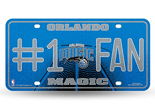Orlando Magic Decal (NBA Orlando Magic Bling #1 Fan Metal Auto Tag Plate, 12 x 6-Inch,)