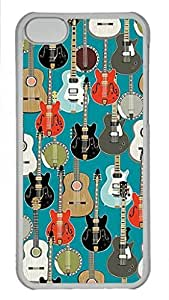Skin Case for iPhone 5C Plastic Case Back Cover for iPhone 5C With Guitar Pattern by Maris's Diary