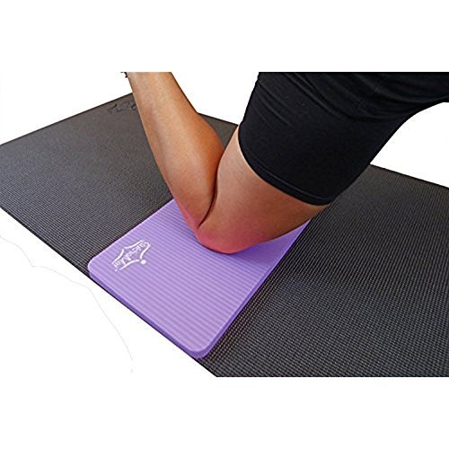 SukhaMat Yoga Knee Pad - New! 15mm (5/8) Thick - The Best Yoga Knee pad for a Pain Free Practice. Cushions Pressure Points. Complements Your Full-Size Yoga mat. (Purple)