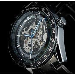 WINNER Automatic Mechanical Skeleton Men's Boy Gift Stainless Steel Wrist Watch