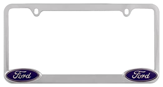 amazoncom bully wl021 c ford license plate frame chrome automotive