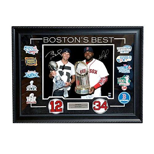 Tom Brady David Ortiz Signed Autographed Boston's Best 16×20 Framed TRISTAR