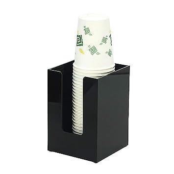 Portavasos Desechable Organizador De Portavasos Acrílico Administrador De Almacenamiento De Tazas Soporte De Vasos Desechable Resistente