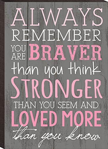 P. Graham Dunn Always Remember You are Braver Than You Think 4x6 Wall Plaque - Golden Angel Art
