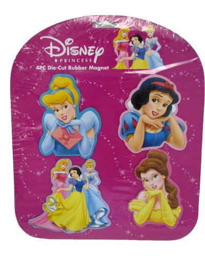 Disney Princess 4 Pc Collectable Die-Cut Rubber
