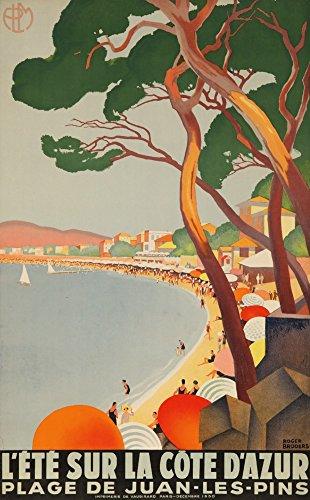 France Signed - L'Ete sur la Cote d'Azur (artist: Broders, Roger) France c. 1930 - Vintage Advertisement (16x24 SIGNED Print Master Giclee Print w/Certificate of Authenticity - Wall Decor Travel Poster)